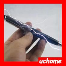 UCHOME 2015 Electric Shock ABS Pen Adult Joke Gag Prank Novelty Trick Funny Toy Gift Can Write Pen