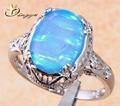Chegada nova! Azul claro opala anel jóia para 2015, 925 prata opala anéis, alibaba express anéis China para mulher