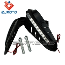 HG-12-BK Black Chinese Motorcycle Parts Universal Motocross Dirtbike MX ATV Motorcycle Handguard Hand Guards LED