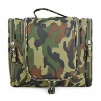 Large size camouflage washing bag ,large capacity travel toiletry bag Can insert luggage bar