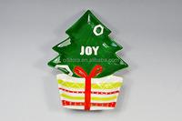 Christmas tree shape dinner plate,christmas plate