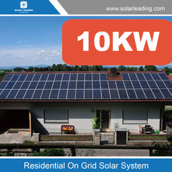 Home use 10kw solar power irrigation system include import solar panels also with grid-connected inverter