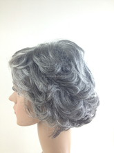 Hot Glueless Heat Resistant Natural Grey Curly Synthetic Women Full Wigs #3T51