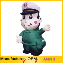 hot sale customized giant inflatable cartoon ,cheap inflatable police man, custom inflatable model