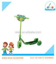 Hot selling kids learner sports smart scooter carton picture 3 wheel scooter for sale