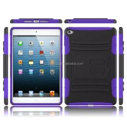 high quality Amercia style pc silicone combo case for apple ipad mini 4