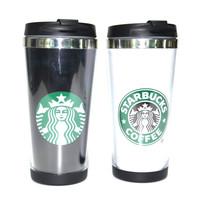 450ML Stainless Steel Double Wall Starbucks Travel Coffee Mugs Insulation Plastic Tumbler Paper Insert Wholesale Starbucks Mug