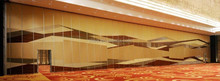 Banquet hall aluminum interior wall decorations movable sound proof partition wall
