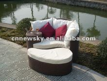 2012 outdoor leisure lounge chair, round wicker