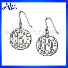 925 sterling silver monogram earring design