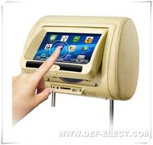 Shenzhen hot 7 inch touch screen headrest car dvd player built in wireless game
