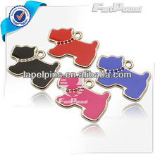 Crystal Enamel Dog Shaped Pet ID Tags