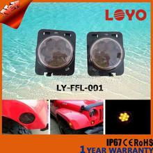 LED wheel fender flare side marke 3W light chip black chrome side marker light for jeep