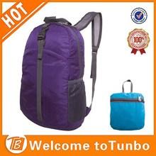 Custom cheap fold up pocket bags fashionable foldable nylon backpack