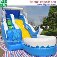 children inflatable pool with slide, cartoon inflatable pool slide price, hot sale commercial inflatable slide