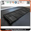 Light weight building material interlocking roof shingles