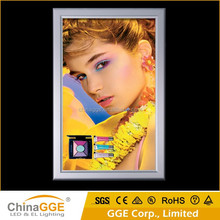 Slim snap aluminum frame picture 3d advertising sign light box with A0 size light box