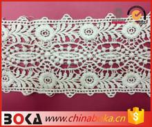 BOKA stylish cotton embroidered crochet lace trim natural color