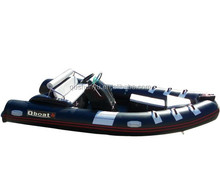 4.7m 8 persons rigid inflatable fiberglass boat with CE