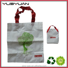 2015 New arrival on sale cheap customized nice printing nylon 210T polyester fold up shopper tote folding shopping bag