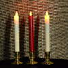 remote control moving flame flameless taper candles with timer