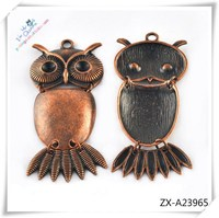 New Design Stainless Steel Clock and Owl Pendants , pendant necklace ZX-A23965