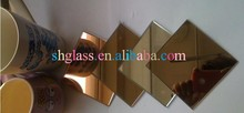 High quality 5mm color decoration glass mirror bathroom mirror glass furniture of silver mirror