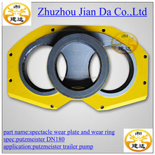 concrete pump wear parts putzmeister spectacle wear plate and wear ring DN180, DN200, DN230, DN250