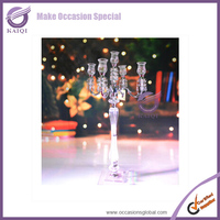 k7056 2015 new fashion cheap crystal candle holder for wedding centerpieces