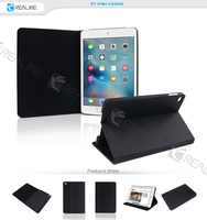Hot selling leather flip case cover for ipad mini 4 stand case