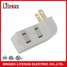 LA 07 UL CUL listed 3 outlets Wall tap current tap 2-flat Blade Plugs with safty sliding cover