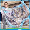 oversized plus print square simulation square silk scarf