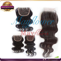 """China Alibaba 10"""" 4x4 Brazilian body wave hair lace closure front hair pieces free parting topper"""