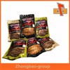 Hot sale flat zip or heat seal beef jerky bag with nice print