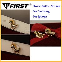 Cartoon gold horse Jack Anti Home Button Sticker For iPhone for samsung