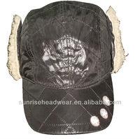 custom baseball cap with ear muff