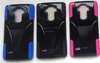 factory price 2in1 PC+silicone phone armor robot case with T stand case for LG ls770