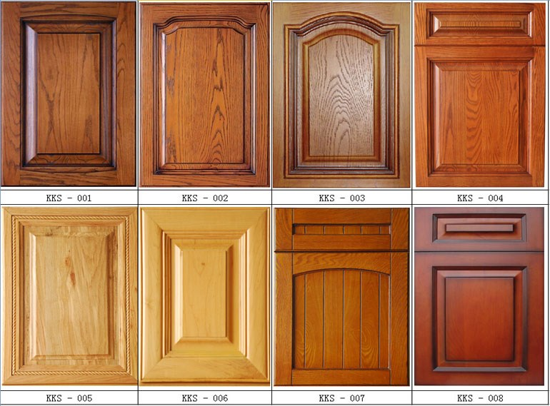 source pvc mdf furniture kitchen cabinet door solid wood kit