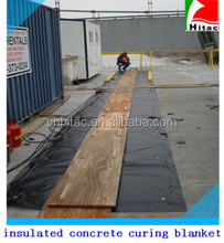 poly/pvc vinyl insulated concrete curing blanket