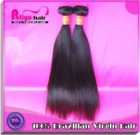 Hot selling great length 20 inch brazilian hair 6a, 100% brazilian virgin hair straight human hair weave unprocessed, accept