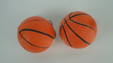 Hot selling promotional PVC basketball shaped key chain with metal keyring bulk buy from china