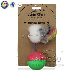 wholesale turbo scratcher da bird cat toy cat feather toy