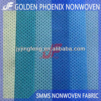 EN13795 SMMS/SMS NONWOVEN FABRIC FOR DISPOSABLE HOSPITAL GOWNS