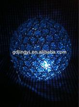 acrylic diamond hand weaving LED RBG lighting iron ball ceiling Wedding decorations