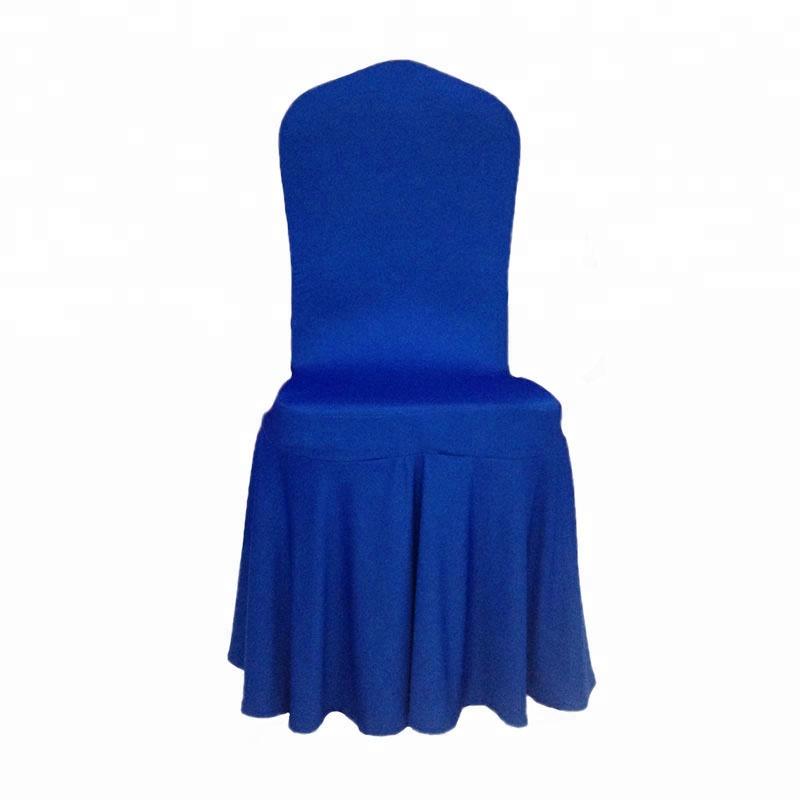Royal Blue 스판덱스 자 다루고 Poang Jenny Bridal 자 Cover