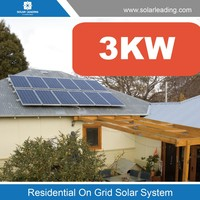 Solar Panel Pole Mounting System 3KW pitched roof, ground mount and commercial flat roof solar energy system