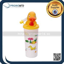 Promotional New Products Animals 3D Plastic Lenticular Cup with straw and lid