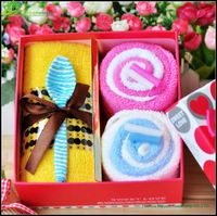 ice cream cake towel wonderful design Lovely terry cotton cake towel/gift towel cotton cake towel gift box GVD02