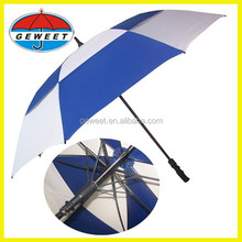 2015 blue and white strong double canopy chinese umbrella