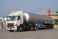 HINO 700 LPG gas storage transport tanker semitrailer from china famous manufacturer